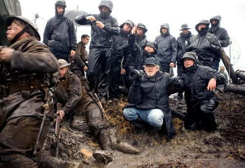 Spielberg on the set of War Horse